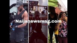 BBNaija: Miracle steps out with his female friend as he does his workout in the gym