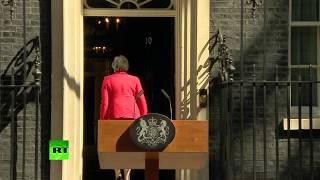 '…To serve the country I love' – Theresa May breaks down in tears announcing resignation