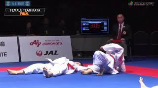 Karate1 Series A   Okinawa 2017   Female Team Kata, Final  Japan Kata Team