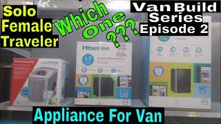 Solo Female Traveler |Van Build Series| Episode 2| Subscriber Meetup| New Fridge for Van