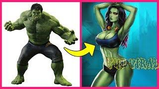 Marvel And DC Superheroes Female Version - Part 2 ???? Video | Tup Viral