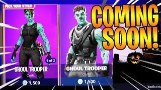 NEW MALE & FEMALE GHOUL TROOPER SKIN COMING BACK TO FORTNITE!! *Giveaway?*