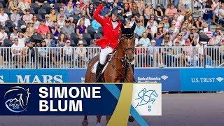 Simone Blum becomes FIRST ever female World Jumping Champion! | FEI World Equestrian Games 2018