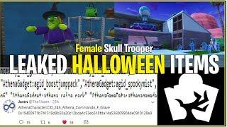 *NEW* Fortnite: LEAKED HALLOWEEN ITEMS! (Fog Machine Gun, Female Skull Trooper and More!)