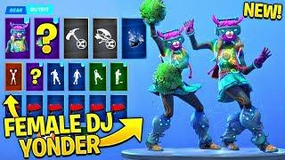 *NEW* Female DJ Yonder Skin Showcase With All Leaked Fortnite Dances..! (Cheer Up, Clean Groove)