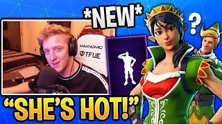 Tfue Reacts to *NEW* CRACKDOWN Emote and 'Tinseltoes' ELF Skin in Fortnite