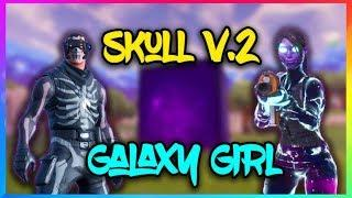 #1 SKIN SKull Trooper V2.0 + Female Galaxy skin (Fortnite Battle Royale Live)