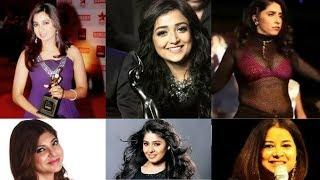 Filmfare Award (2000-2018)for Best Playback Singer Female .shreya ghoshal,Alka Yagnik,