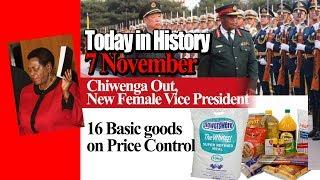 Today in History, Chiwenga Out, New Female Vice President, 16 Basic Commodities Price Control