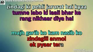 Zindgi Ki Pehli Zarurat Hai Kya Semi Vocal Female Video Karaoke Lyrics