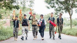 3T Nerf War : Squad Alpha Female Assassin Nerf guns The Process of Removing Criminals
