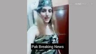 Pak ASF female soldier dance on Indian song viral video Pak army female soldier sexy dance on Indian
