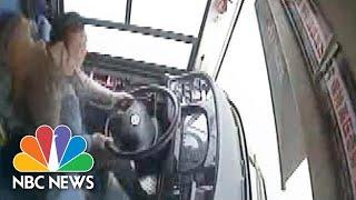 Video shows Woman Fight With Bus Driver, Causing Deadly Crash Into River | NBC News