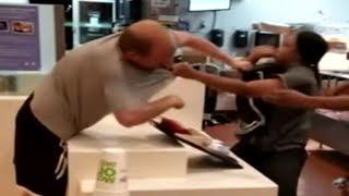 #McDonalds Fast Food Fight : Female Employee vs  Customer ...who wins?