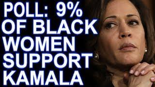 Kamala Harris's Black Female Support Drops To Just 9%