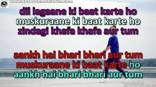 Aankh Hai Bhari Bhari Semi Vocal Female Video Karaoke Lyrics