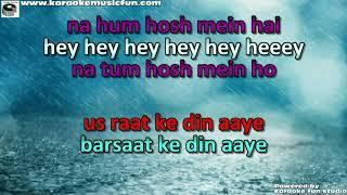 Barsaat Ke Din Aaye Semi Vocal Female Video Karaoke Lyrics