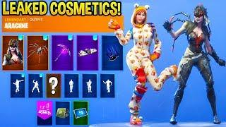 *NEW* Leaked Fortnite Skins & Emotes..!! (Female Durr Burger, Electro Swing, Spider Skins)