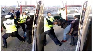 Kenya Traffic Police Officers Harrasing A Female Passenger [VIDEO]