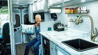 72 yr old SOLO Female Van Lifer | Van Tour in 4K