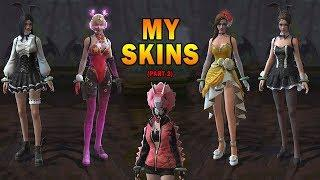 My female Skin collection in Rules of Survival