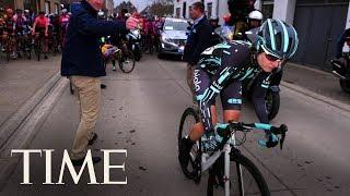 A Female Cyclist Was Forced To Stop Mid-Race When She Almost Caught Up To The Men | TIME