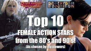 Top 10 Female Action Stars from the 80's and 90's featuring Rossatron