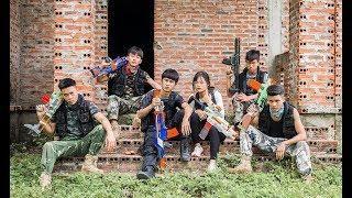 3T Nerf War : Squad Alpha Female Assassin Nerf guns Destroy The Bandits