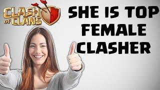 TOP FEMALE PLAYER IN CLASH OF CLANS