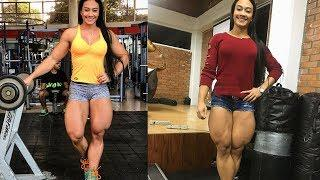 Jessica Olaya Betancur | Massive Legs Girl Female Bodybuilder