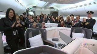 Air Canada showcases all-female flight crew for International Women's Day