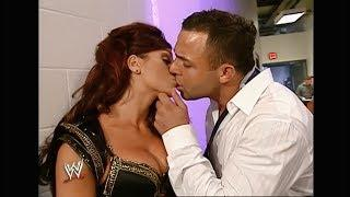 Maria Kanellis & Santino Hot Kiss Backstage || WWE Raw: Sept. 3, 2007