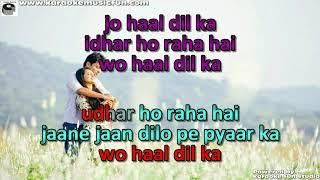 Jo Haal Dil Ka Idhar Ho Raha Hai Semi Vocal Female Video Karaoke Lyrics