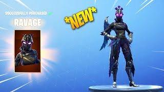 *NEW* FORTNITE RAVAGE SKIN! & RAVEN FEMALE SKIN!