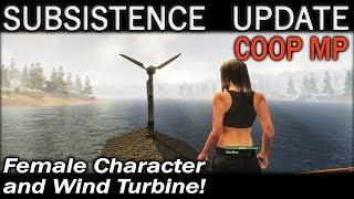 Update: Female Character and Wind Turbine! | Subsistence CO-OP Multiplayer Gameplay | EP 66