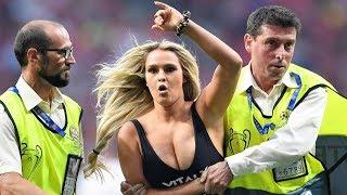 Liverpool vs Tottenham 2-0 ⚽ Hot Girl Invades Pitch During Champions League Final Madrid 2019