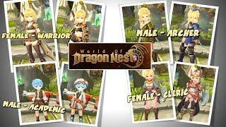 Design Karakter di World Of Dragon Nest - Female Cleric,Male Archer,Male Academic & Male Warrior