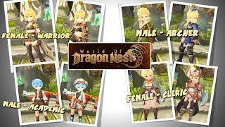Design Karakter di World Of Dragon Nest - Female Cleric,Male Archer,Male Academic & Male Warrior