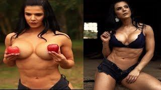 Beauty with Muscle Brazilian Female Bodybuilder | EVA ANDRESSA | BIkini Show