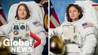First all female spacewalk by NASA astronauts