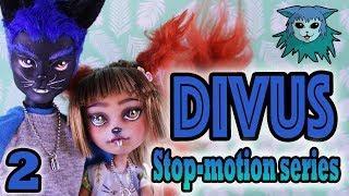 Divus: 2 Stop-motion series: Meeting Penny's dad's (repaint ooak custom monster high dolls)