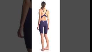 TYR Tracer B-Series Female Short John Tech Suit | SwimOutlet.com