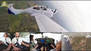 Lufthansa Aviation Training (EFA) Diamond DA42 ULTIMATE COCKPIT MOVIE [AirClips full flight series]