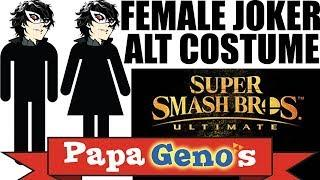 Female Joker Alternate Costume Super Smash Bros Ultimate - PapaGenos