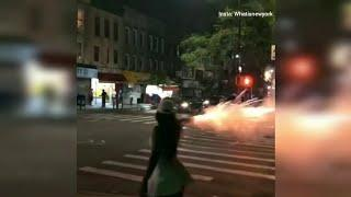 Video shows woman recklessly firing fireworks in Brooklyn