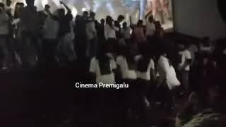 Yajamana First Day Show Female fans dances in front of Screen | Yajamana | Challenging Star Darshan
