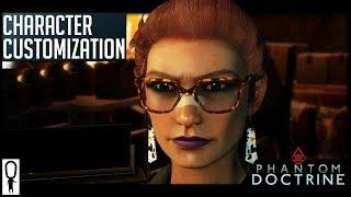 Phantom Doctrine Character Customization Options for Male and Female Agents