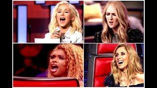 Female Singers Slaying Vocals On The Voice (Out Of Stage)