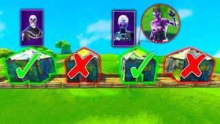 GUESS THE RIGHT ROOM FOR SKULL TROOPER & FEMALE GALAXY SKIN in Fortnite Battle Royale