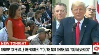 CNN: President Trump Insults Female Journalists During Rose Garden Press Conference